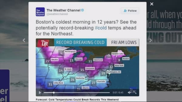 'Coldest air for more than a decade' heading for Northeast