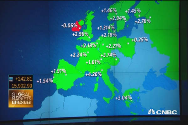 European markets to end week in the green