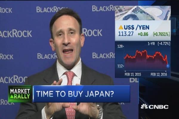 The play on Japan's plunge