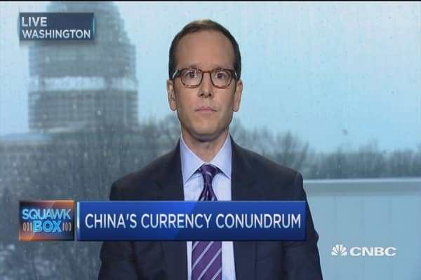 China currency challenge