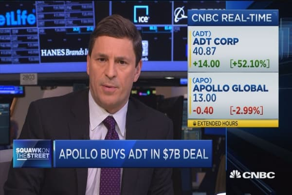 Apollo buys ADT in $7 billion deal