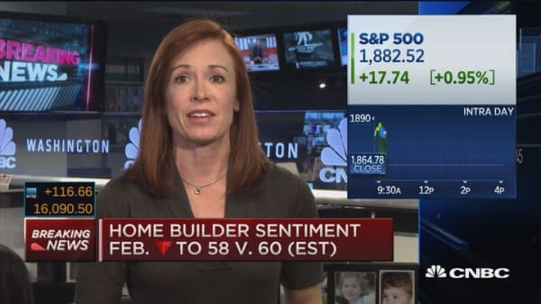 Feb. homebuilder sentiment down