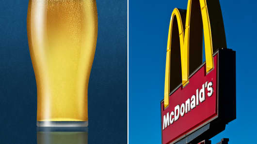 McDonald's to add beer to its menu in South Korea.