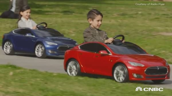 This is the Tesla Model S –  for kids