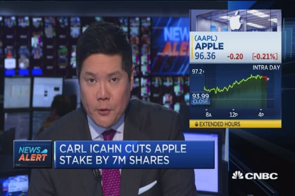 Icahn discloses a 7M share reduction in Apple stake