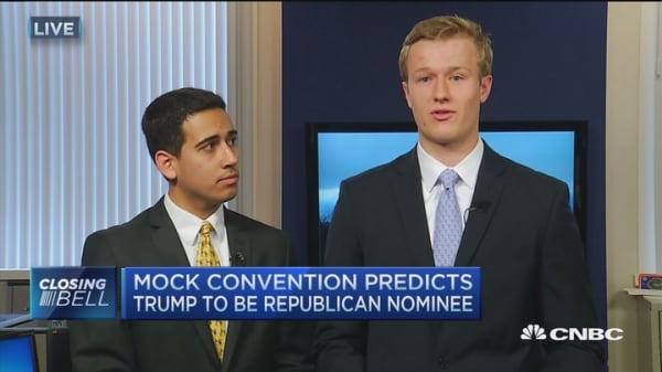 Mock Con predicts Trump nomination