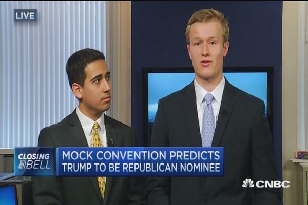 Mock Con predicts Trump nomination