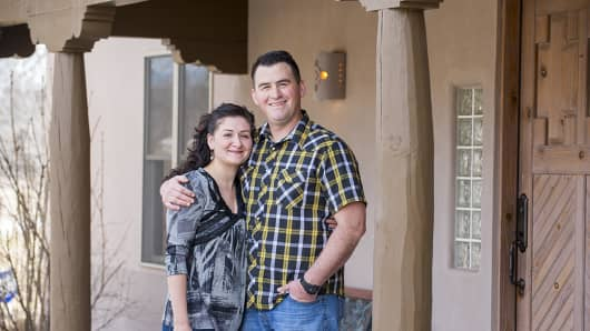 Jesse and Melissa Berryhill overcame a bad car loan to build their credit and eventually buy a home in Santa Fe, N.M., with the help of Homewise.