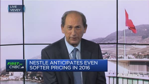 Pricing was soft in 2015: Nestle CEO