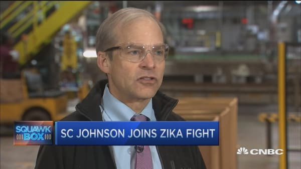 SC Johnson to join battle to fight Zika