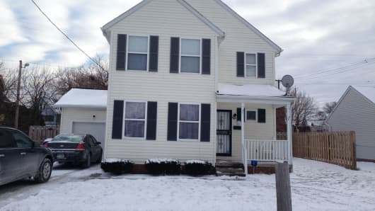 The home Tim and Sharla purchased in the Glenview neighborhood of Cleveland.