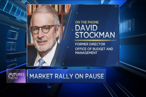 Market's on the verge of correction: Stockman