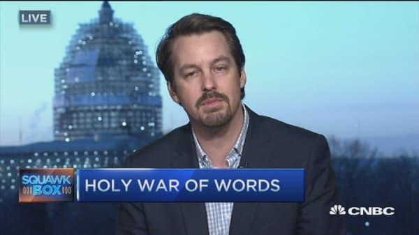 Holy war of words