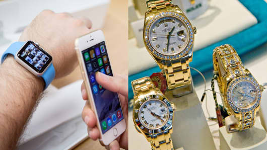 Apple Watch vs Rolex wristwatches