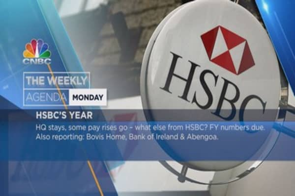 Weekly earnings agenda: HSBC, Danone, Airbus