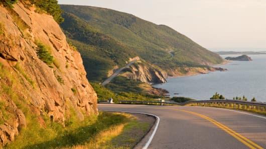 A scene in Cape Breton Island, Nova Scotia, Canada.