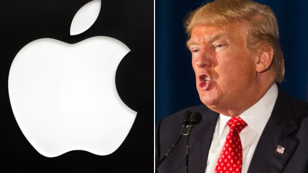 Donald Trump calls for a boycott of Apple.