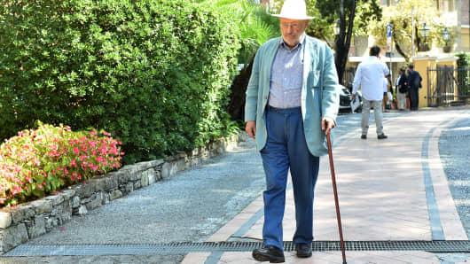 Umberto Eco attends the Festival Della Comunicazione on September 11, 2015 in Camogli, Italy