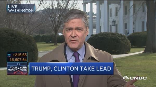 Trump wins big, Bush suspends campaign