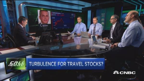 Turbulence for travel stocks