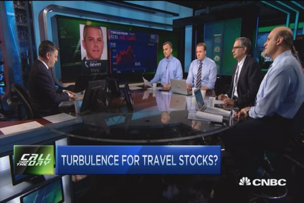 Turbulence for travel stocks