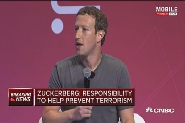 Zuckerberg: Responsibility to help prevent terrorism