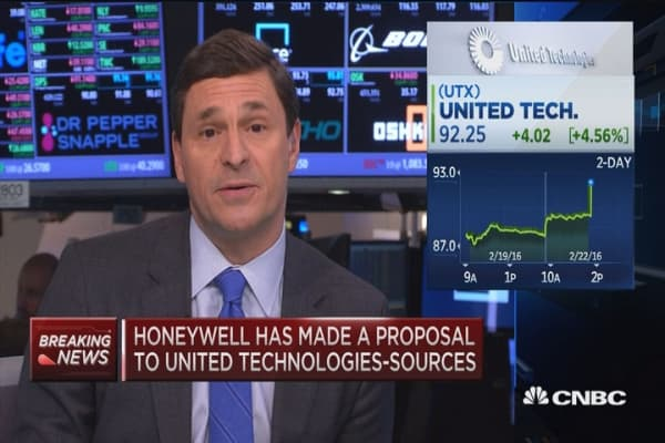 Honeywell & United Tech have held talks about merger: Sources