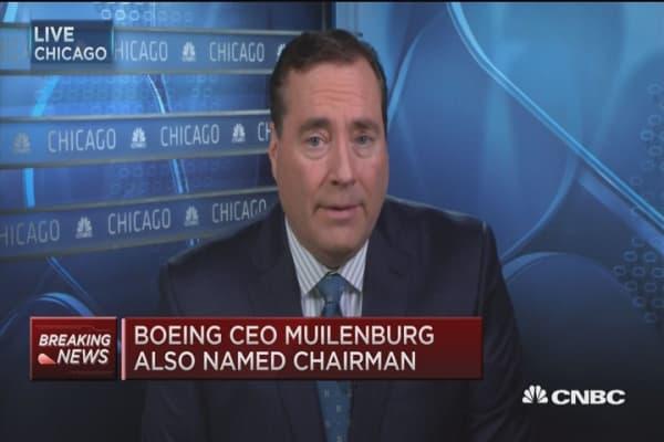 Boeing CEO Muilenburg also named chairman