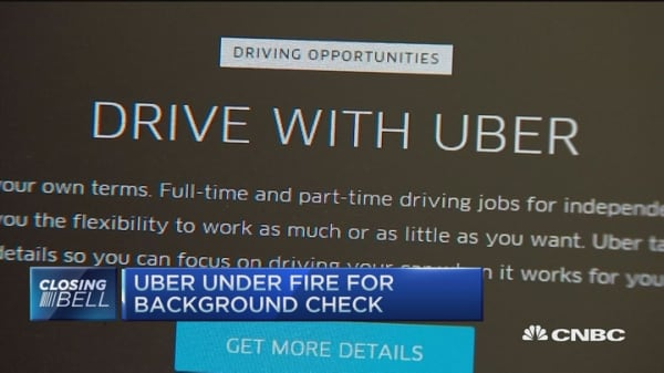 Uber under fire for background check