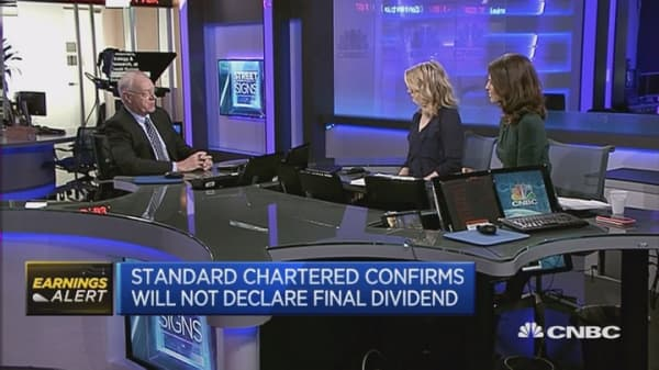 StanChart FY profit falls 84%