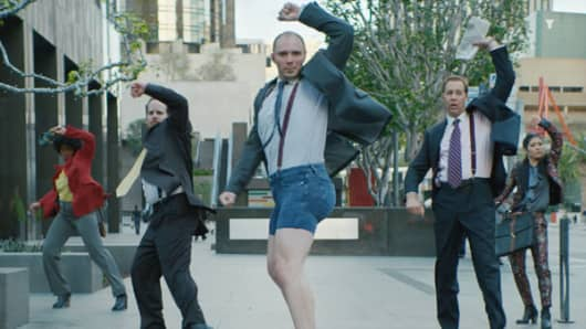 "Moneysupermarket.com's advert features ""Dave"" and his ""epic strut"""