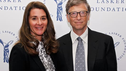 Melinda Gates and Bill Gates of the Gates Foundation.