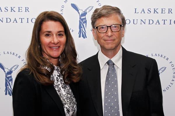 Melinda Gates and Bill Gates of the Gates Foundation.