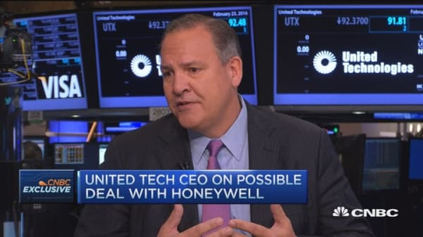 United Technologies CEO: Started merger talk in April