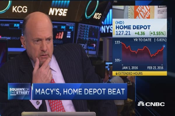 Cramer: Home Depot has competition in awe