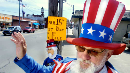 Uncle Sam and Taxes