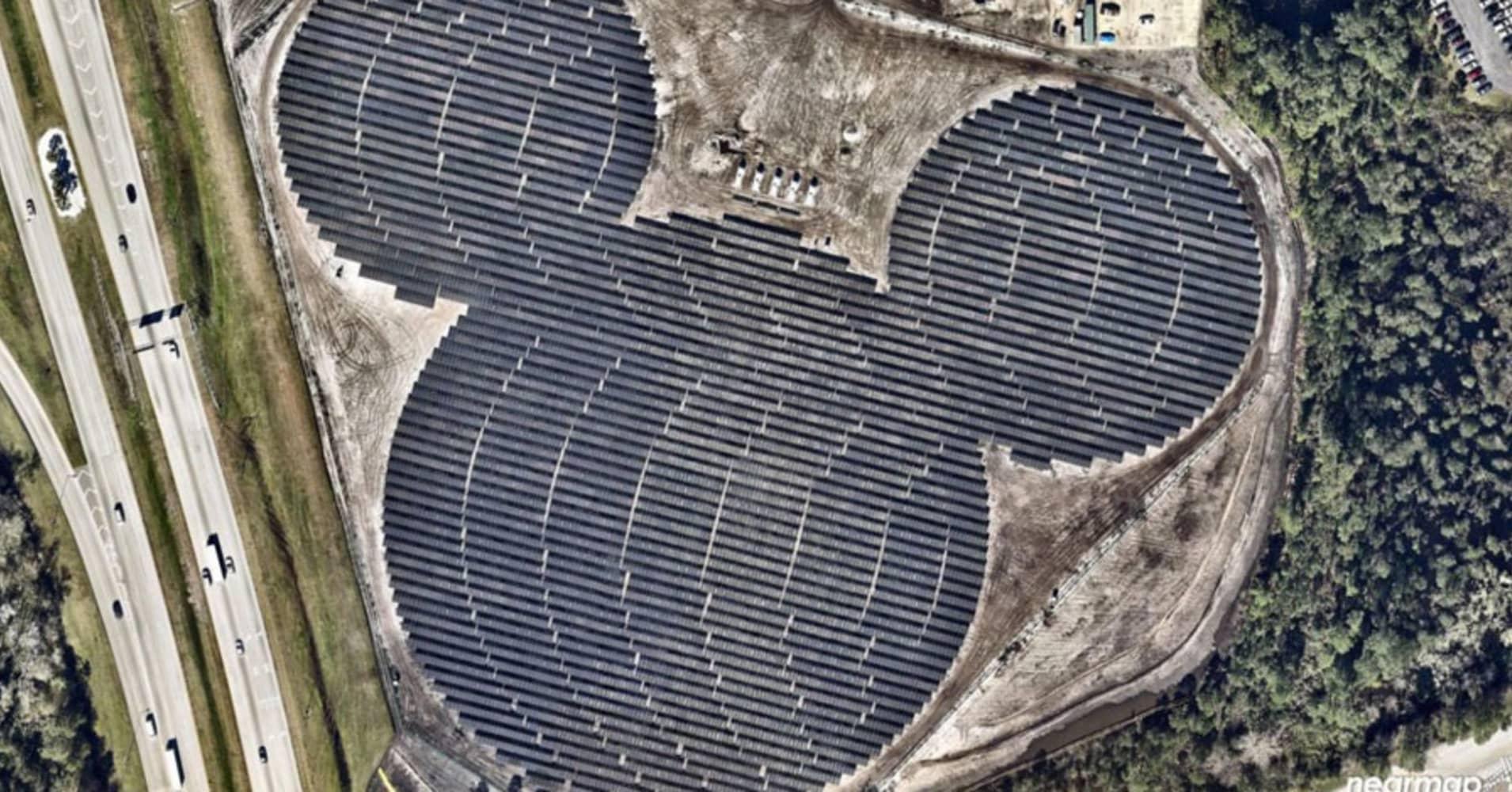 Mickey Shaped Solar Farm Near Orlando