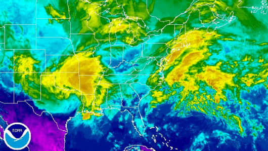 Tornadoes Damage Homes Uproot Trees Knock Out Power In Louisiana - Noaa world satellite map