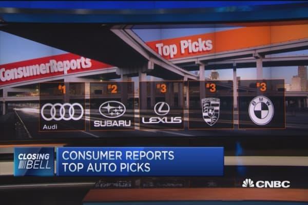 Consumer reports top auto picks