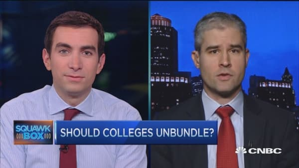 Time to 'unbundle' college degree?