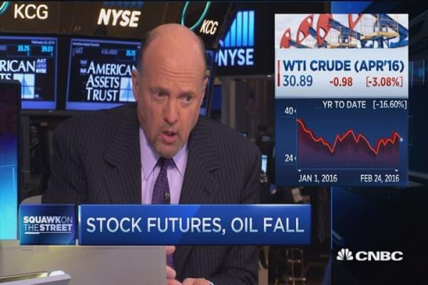 Cramer: Oil going nowhere fast