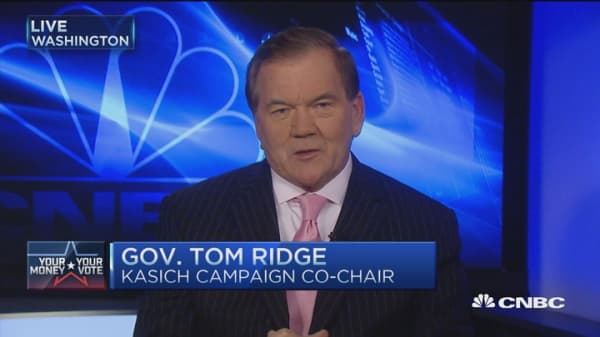 Tom Ridge 'paints the path' for Kasich
