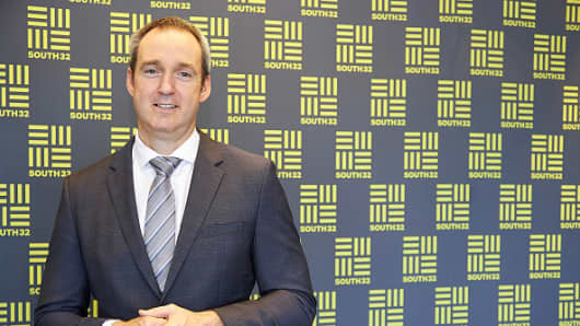 Graham Kerr, chief executive officer of South32 Ltd. poses for a photograph at the Australian Securities Exchange (ASX) offices in Perth, Australia, on Monday, May 18, 2015.