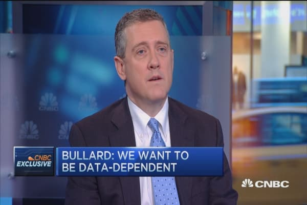 Fed's Bullard: Changes not high for global recession
