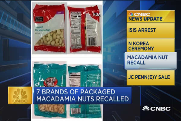 CNBC update: Salmonella risk recalls macadamia nuts