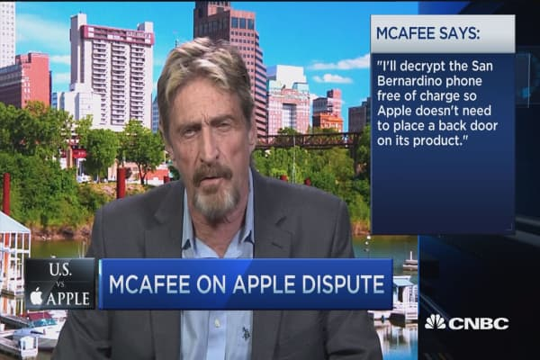 McAfee: I could get the iPhone data, give me 3 weeks!