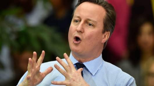 British Prime Minister David Cameron