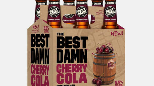 Anheuser-Busch announces the upcoming launch of Best Damn Cherry Cola, aged on whole cherries after brewing for a flavorful, harder take on the timeless taste of cherry cola. (