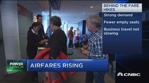 Airlines hike fares with strong demand