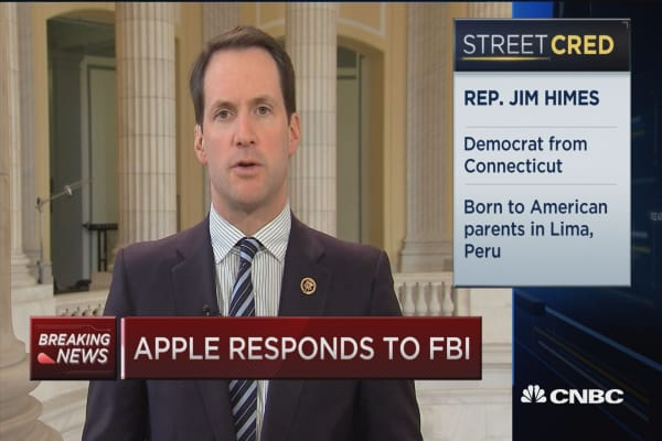 Rep. Himes: Apple/FBI fight should play out in Congress, not court